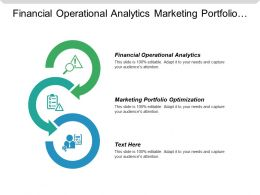 Financial Operational Analytics Marketing Portfolio Optimization Business Collaboration System Cpb