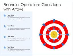 Financial Operations Goals Icon With Arrows