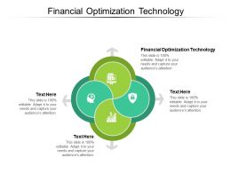 Financial Optimization Technology Ppt Powerpoint Presentation Model Themes Cpb