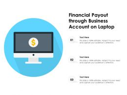 Financial Payout Through Business Account On Laptop
