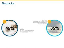 Financial Percentage Ppt Powerpoint Presentation Layouts Graphics Example