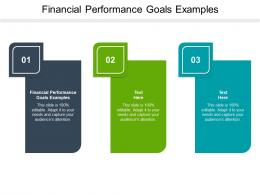 Financial Performance Goals Examples Ppt Powerpoint Presentation Gallery Slides Cpb