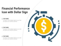 Financial Performance Icon With Dollar Sign