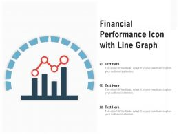 Financial Performance Icon With Line Graph