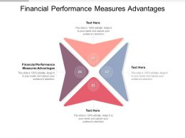 Financial Performance Measures Advantages Ppt Powerpoint Presentation Visual Cpb