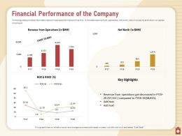 Financial Performance Of The Company Roe And Roce Powerpoint Presentation Download