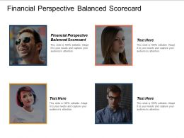 Financial Perspective Balanced Scorecard Ppt Powerpoint Presentation Model Example Cpb