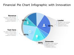 Financial Pie Chart Infographic With Innovation