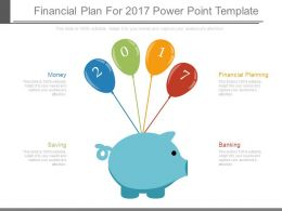 Financial Plan For 2017 Power Point Template