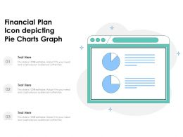 Financial Plan Icon Depicting Pie Charts Graph