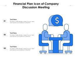 Financial Plan Icon Of Company Discussion Meeting