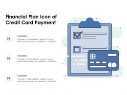 Financial Plan Icon Of Credit Card Payment