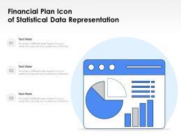 Financial Plan Icon Of Statistical Data Representation