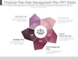 Financial Plan Risk Management Plan Ppt Slides