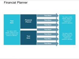 Financial Planner Ppt Powerpoint Presentation Outline Shapes Cpb