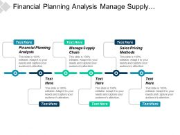 Financial Planning Analysis Manage Supply Chain Sales Pricing Methods Cpb