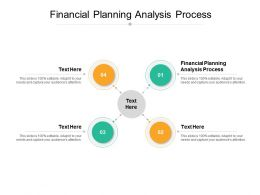 Financial Planning Analysis Process Ppt Powerpoint Presentation Ideas Diagrams Cpb