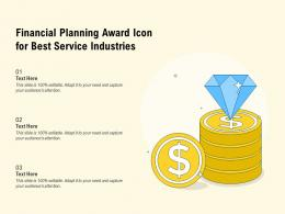 Financial Planning Award Icon For Best Service Industries