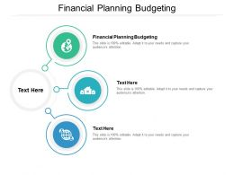 Financial Planning Budgeting Ppt Powerpoint Presentation Professional Aids Cpb
