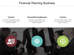 Financial Planning Business Ppt Powerpoint Presentation Gallery Samples Cpb