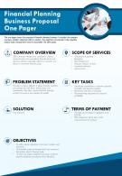 Financial Planning Business Proposal One Pager Presentation Report PPT PDF Document