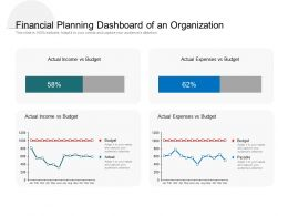 Financial Planning Dashboard Of An Organization