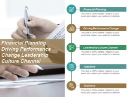 Financial Planning Driving Performance Change Leadership Culture Change Cpb