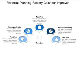 Financial Planning Factory Calendar Improved Filtering Customer Defined Fields