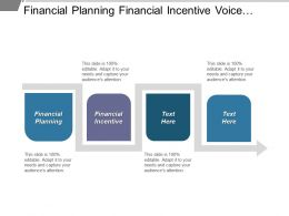 Financial Planning Financial Incentive Voice Market Portfolio Management Cpb