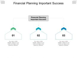 Financial Planning Important Success Ppt Powerpoint Presentation Styles Inspiration Cpb