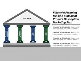 Financial Planning Mission Statement Product Description Marketing Plan