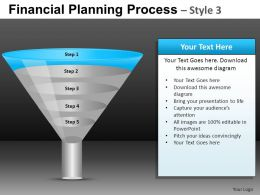 Financial Planning Process 3 Powerpoint Presentation Slides DB