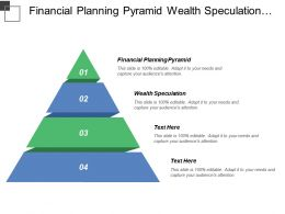 Financial Planning Pyramid Wealth Speculation Wealth Accumulation Activity Logging