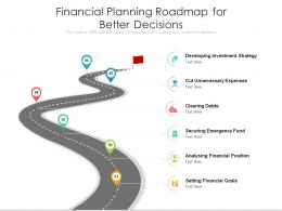 Financial Planning Roadmap For Better Decisions