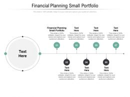 Financial Planning Small Portfolio Ppt Powerpoint Presentation Professional Portrait Cpb