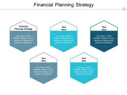 Financial Planning Strategy Ppt Powerpoint Presentation Outline Format Ideas Cpb