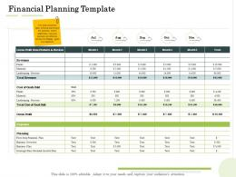 Financial Planning Template Administration Management Ppt Template
