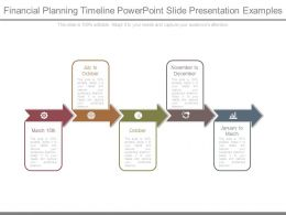 Financial Planning Timeline Powerpoint Slide Presentation Examples
