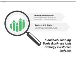 Financial Planning Tools Business Unit Strategy Customer Insights