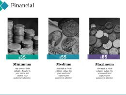 Financial Ppt Summary Background Images