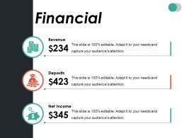 Financial Ppt Summary Professional