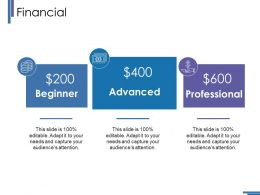 Financial Ppt Summary Skills