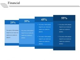 Financial Ppt Summary Slide Portrait