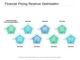 Financial Pricing Revenue Optimization Ppt Powerpoint Presentation Model Deck Cpb