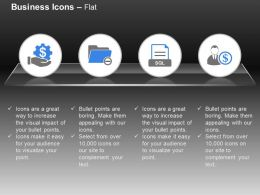 Financial Process Control Data Folder Sql Document Financial Investor Ppt Icons Graphics