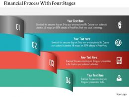 Financial Process With Four Stages Powerpoint Templates