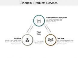 Financial Products Services Ppt Powerpoint Presentation Gallery Template Cpb