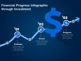 Financial Progress Infographic Through Investment