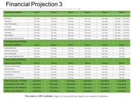 Financial Projection 3 Presentation Portfolio