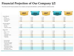 Financial Projection Of Our Company 2015 To 2019 Years Ppt Powerpoint Deck